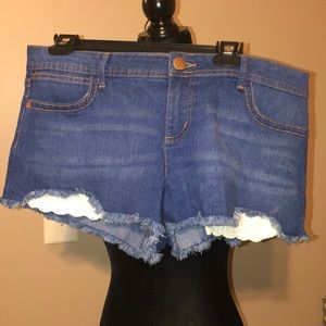 Shorty jean shorts